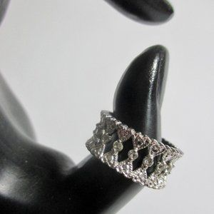 5/$25 Vintage Avon Ring Sz 7.5 Filigree Hearts